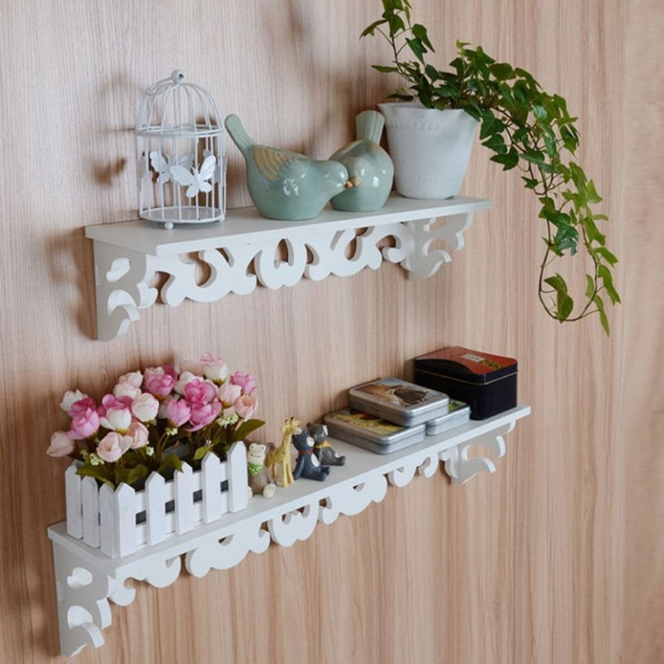 Wood Carve Display Wall Shelf Storage Rack Home Decor - home decor shopee