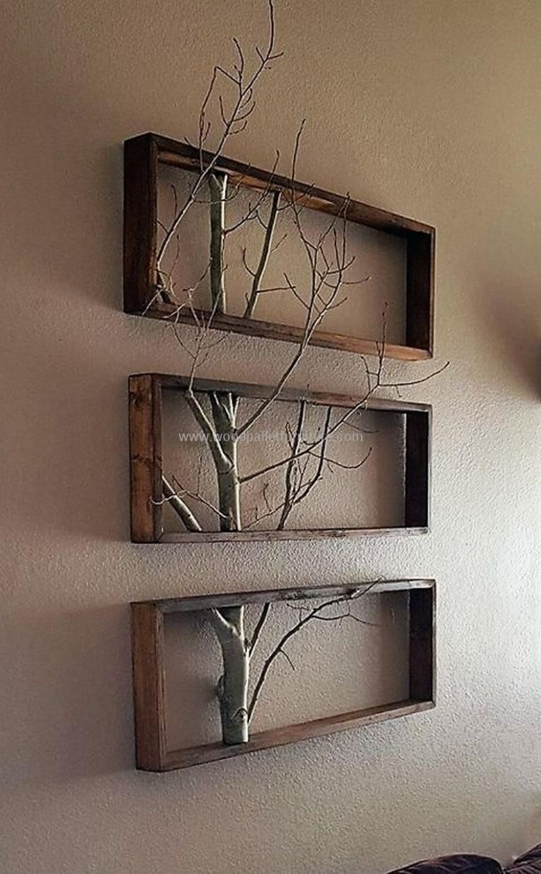 wood pallets wall decor art #diyhomedecor (With images) | Wood ..