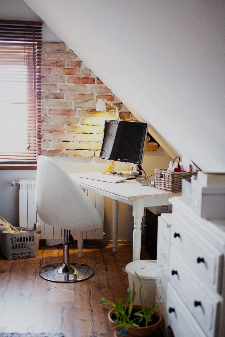Workspaces #10 | Home office design, Home, Small room bedroom - home office ideas attic