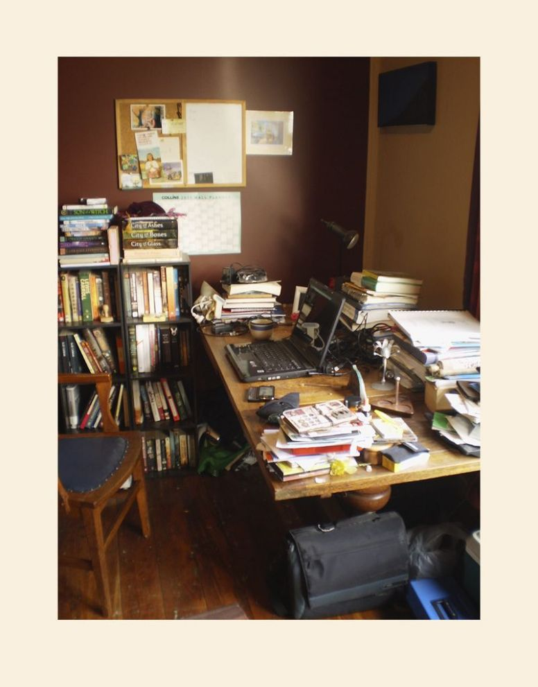 Writer and herbalist Joel Le Blanc's desk in Christchurch, New ...