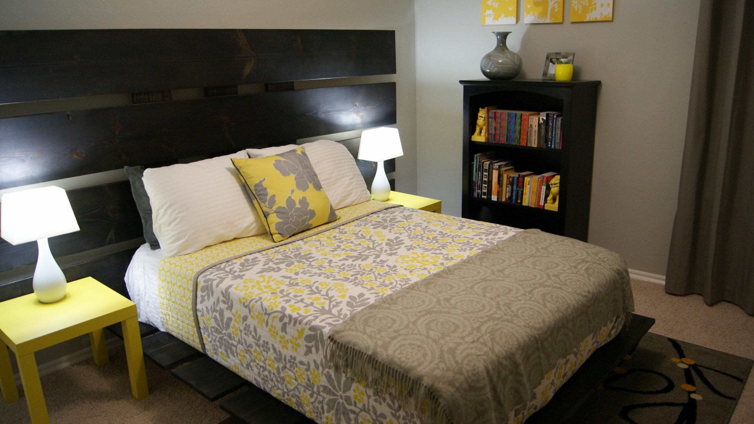 Yellow And Grey Bedroom Ideas Cottage Bedrooms Gray Decorating ..