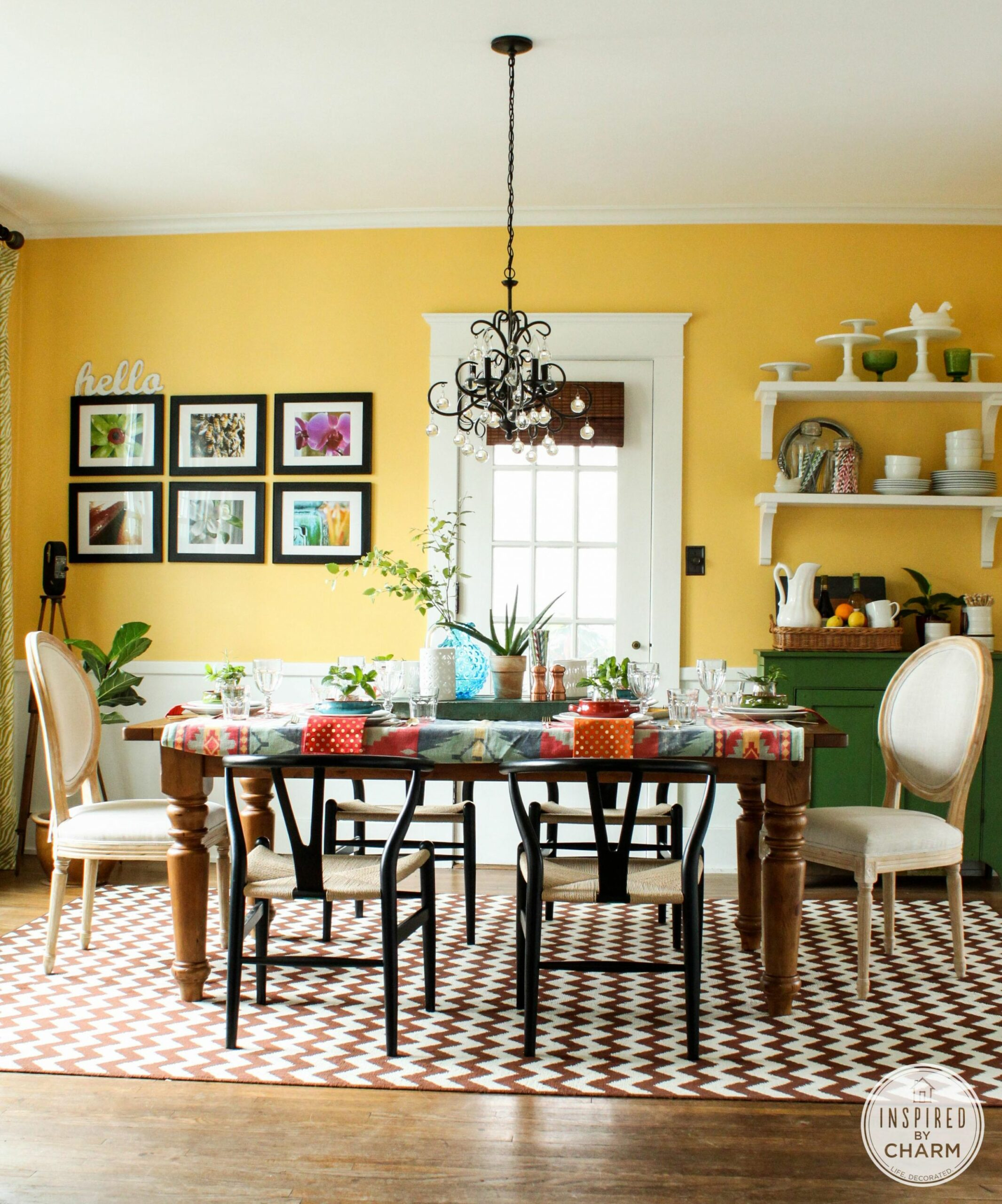 Yellow Dining Room Decorating Ideas Family Services - Decoratorist ...