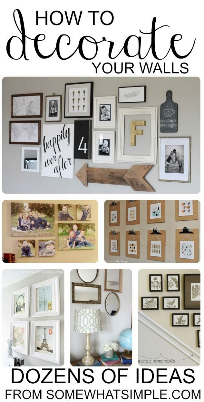 10 Best Wall Decor Ideas (For ANY Budget | Decor, Home decor, Diy wall - wall decoration ideas on a budget