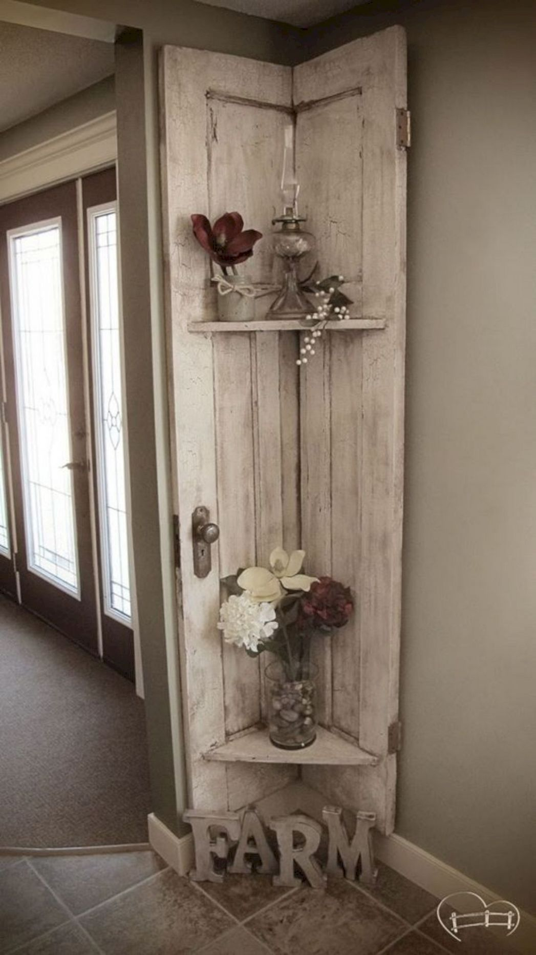 10 DIY Rustic Home Decor Ideas for Living Room | Barn door decor ..