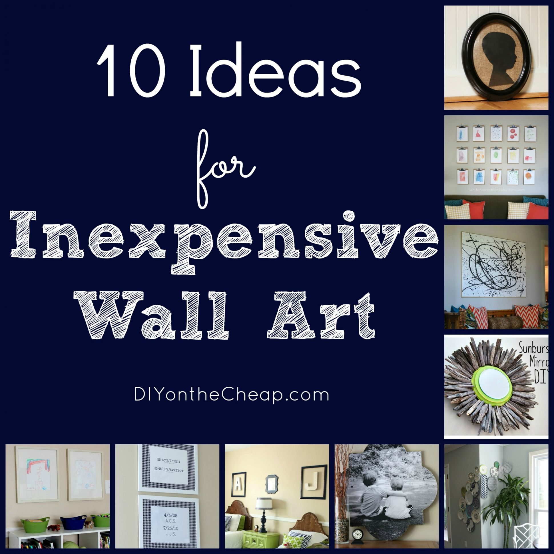 10 Ideas for Inexpensive Wall Art - Erin Spain - wall decoration ideas on a budget