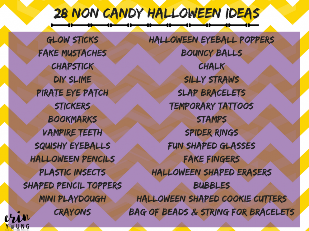 10 Non-Candy Halloween Treat Ideas » Erin Young Fitness