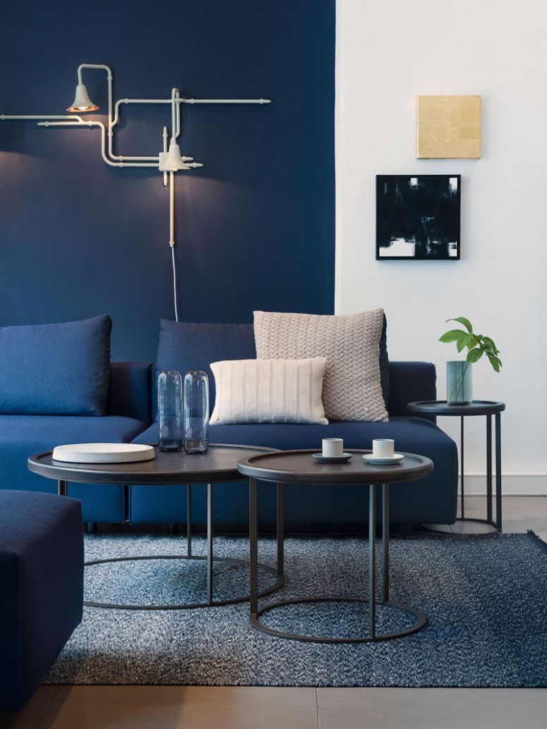 10 Ways To Use Navy Home Decor To Create A Modern Blue Living Room - living room ideas navy blue