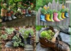 10 Wonderful DIY Garden Ideas From Recycled Materials - DEXORATE