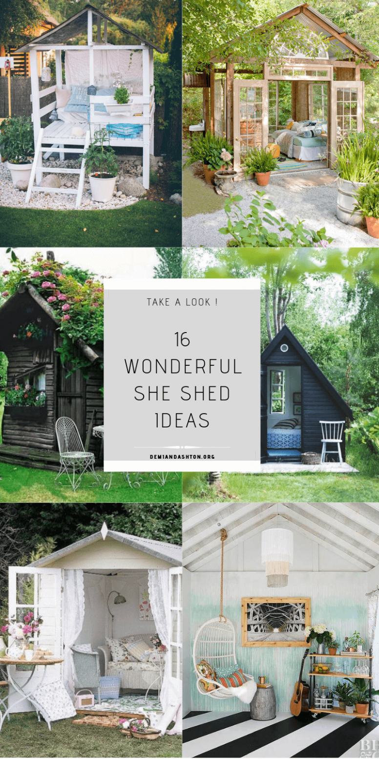 10 Wonderful She Shed Ideas You'll Want to Escape to!