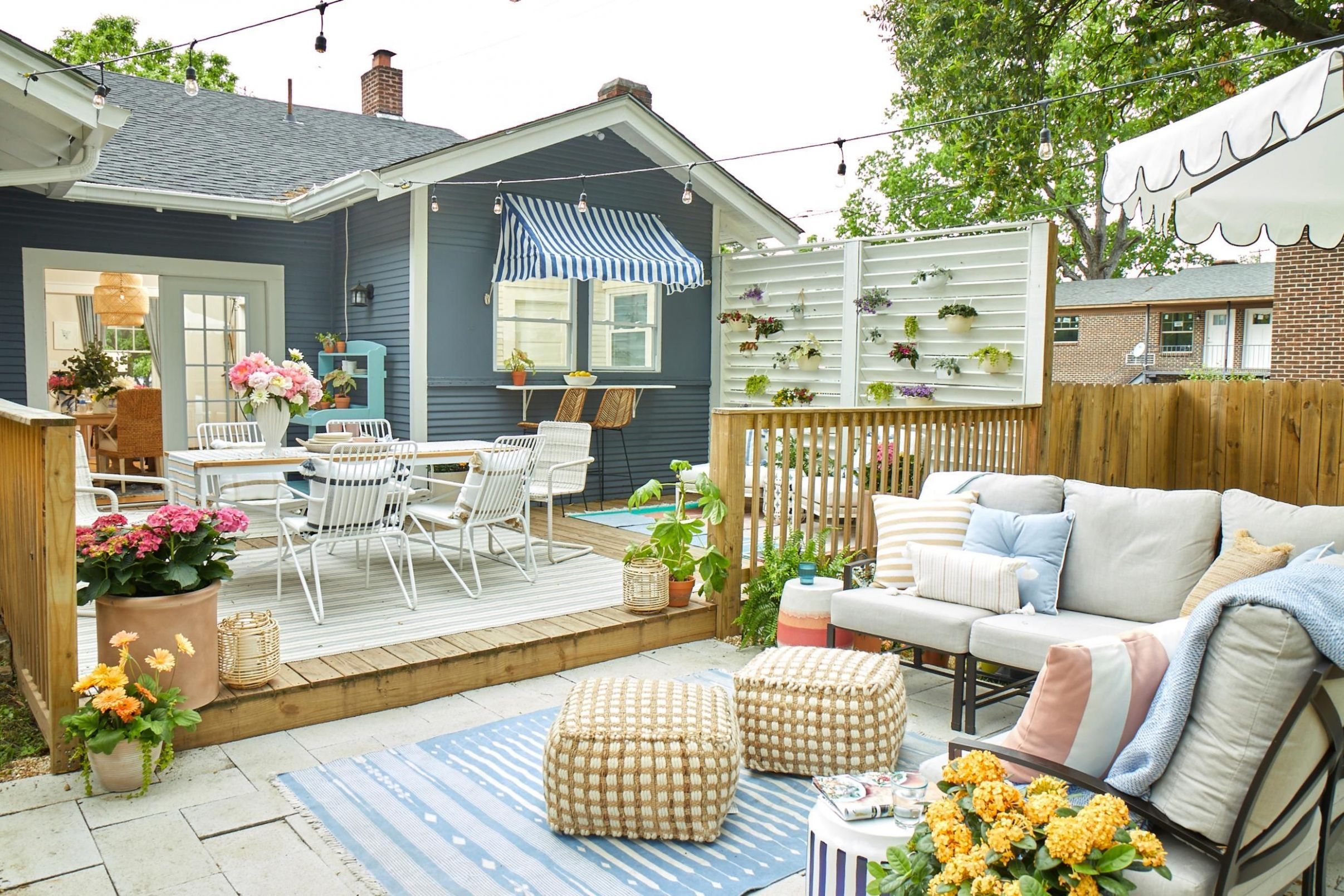 11 Best Patio and Porch Design Ideas - Decorating Your Outdoor Space - backyard wall decor ideas