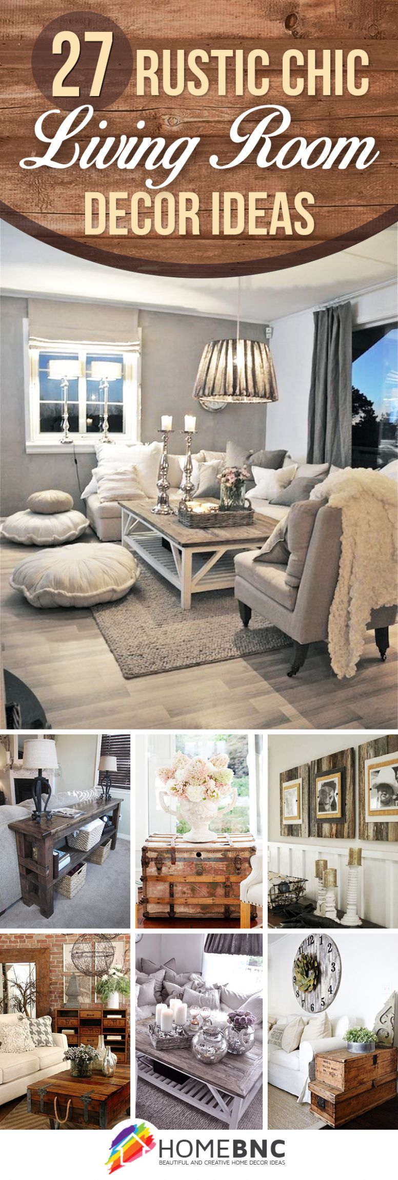 11 Best Rustic Chic Living Room Ideas and Designs for 11 - wall decor ideas chic