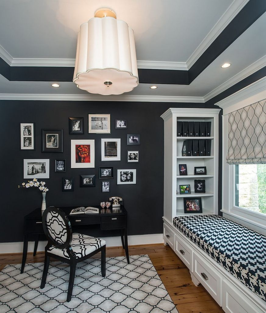11 Black and White Home Offices That Leave You Spellbound