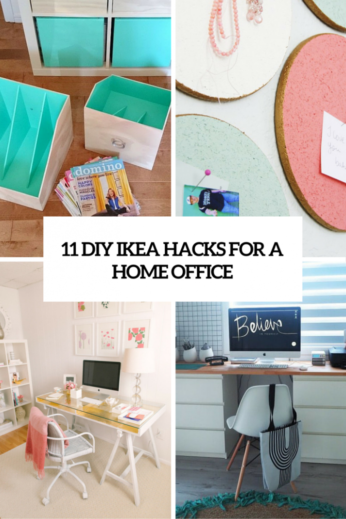 11 Exciting IKEA Hacks For Any Home Office - Shelterness - home office organization ideas ikea