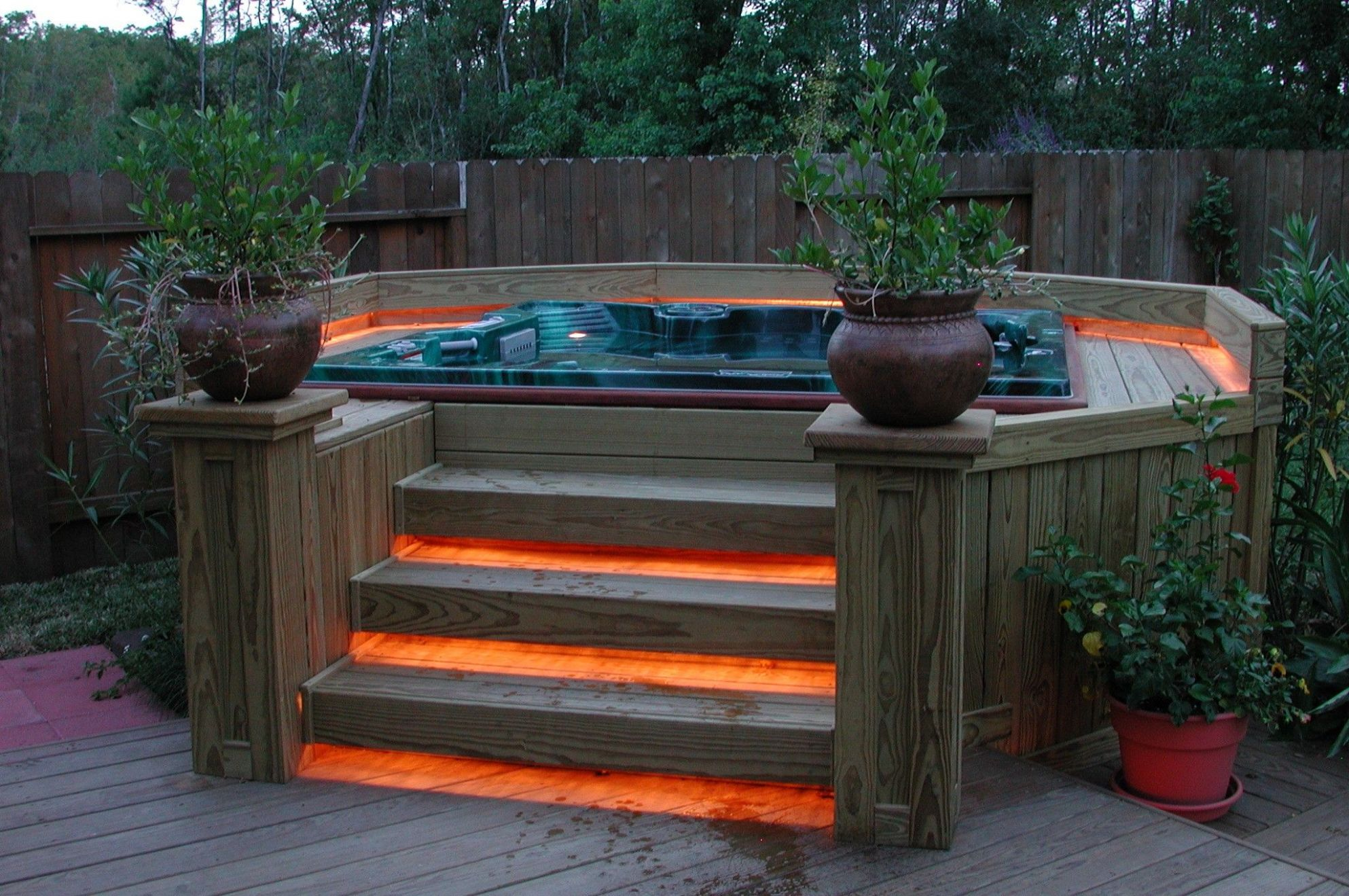 11 Irresistible hot tub spa designs for your backyard | Hot tub ...
