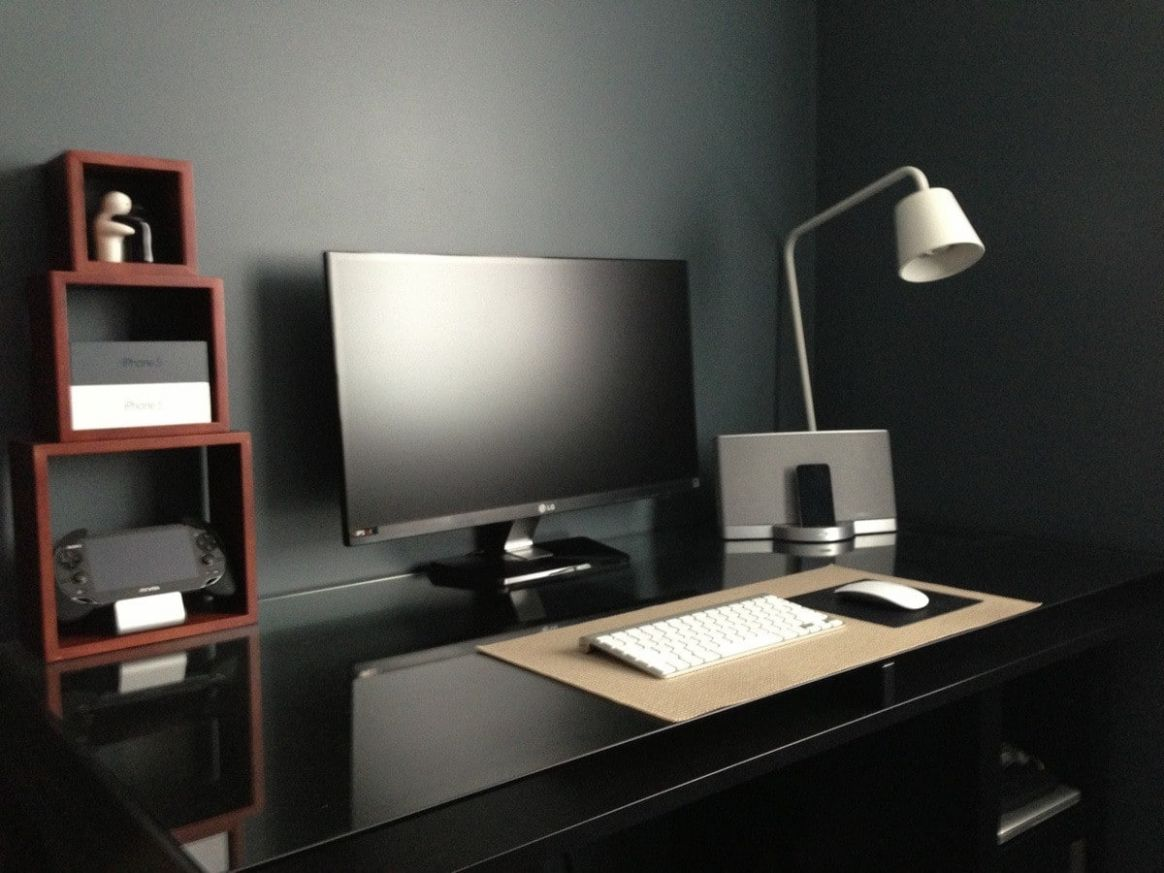 11+ Masculine Home Office Ideas & Inspirations   Man of Many - home office ideas black