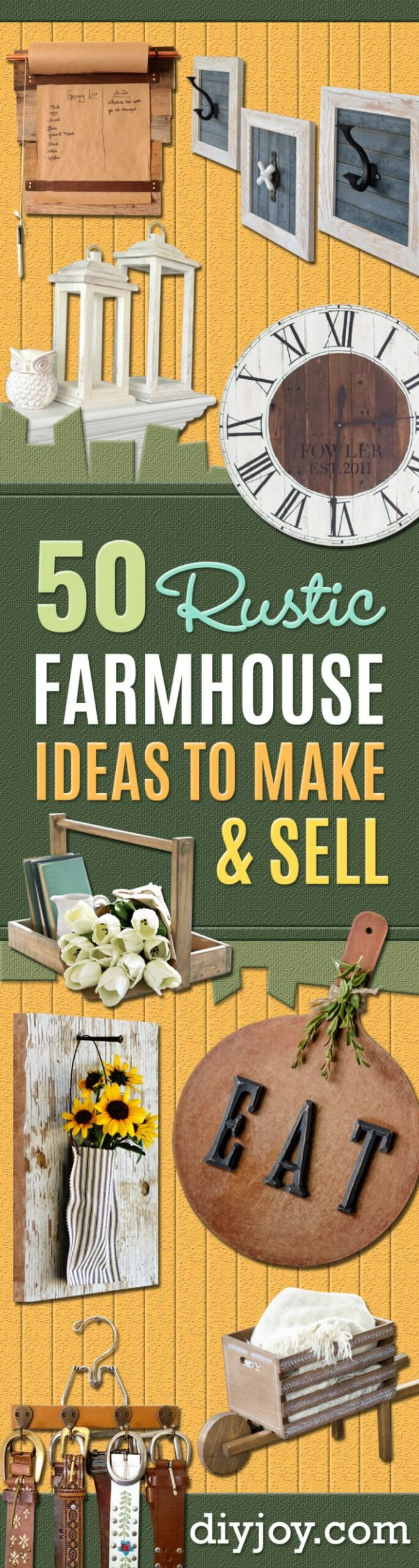 11 Rustic DIY Farmhouse Crafts to Make and Sell - diy home decor to sell