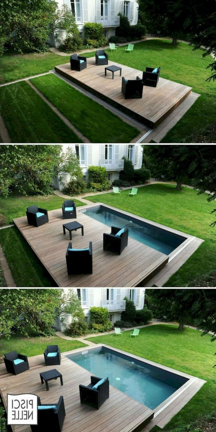 11+ Swimming Pool Ideas Small Backyard | Kleine hinterhof-pools ..