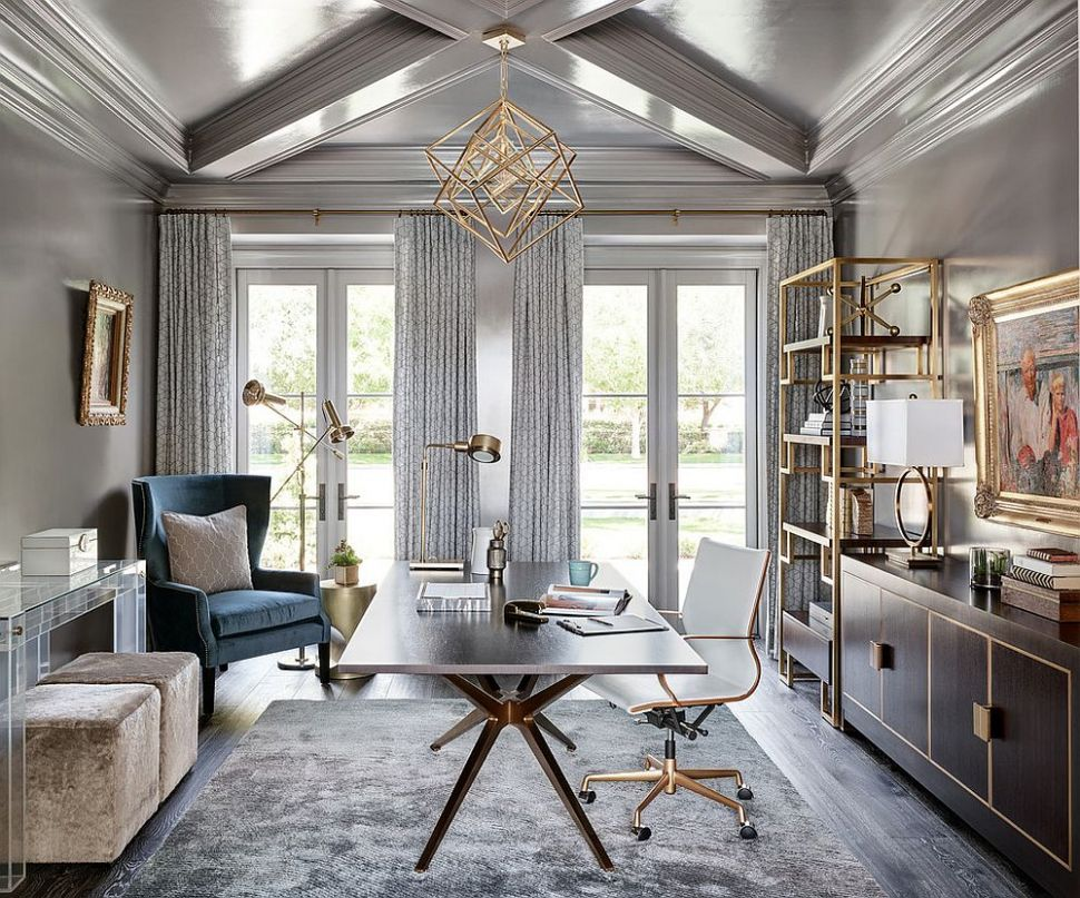 11 Trendy Gray Home Offices Combining Sophistication with Organization