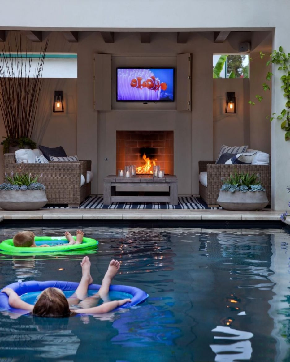 11 Wow-Worthy Hardscaping Ideas | Outdoor rooms, Backyard, Pool houses - pool entertainment ideas