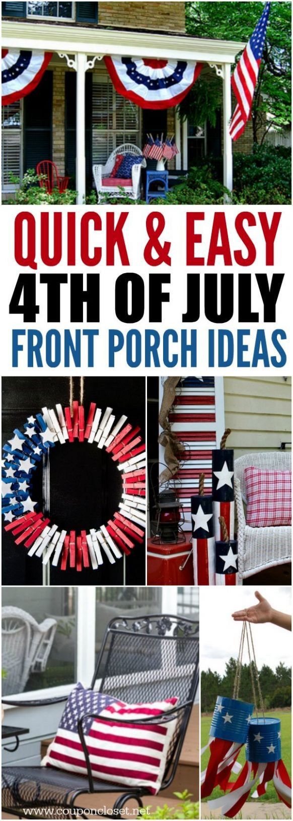 11th of July Front Porch Ideas- Patriotic front porch ideas for the 11th - front porch fourth of july decor