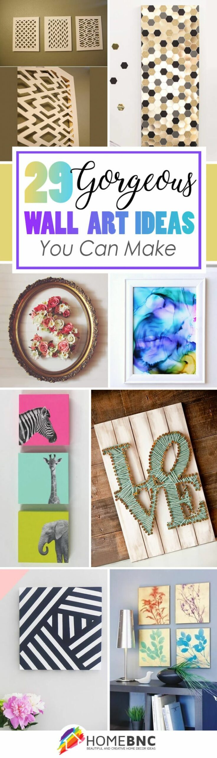 12 Best DIY Wall Art Ideas (Designs and Decorations) for 12 - wall decoration ideas easy diy