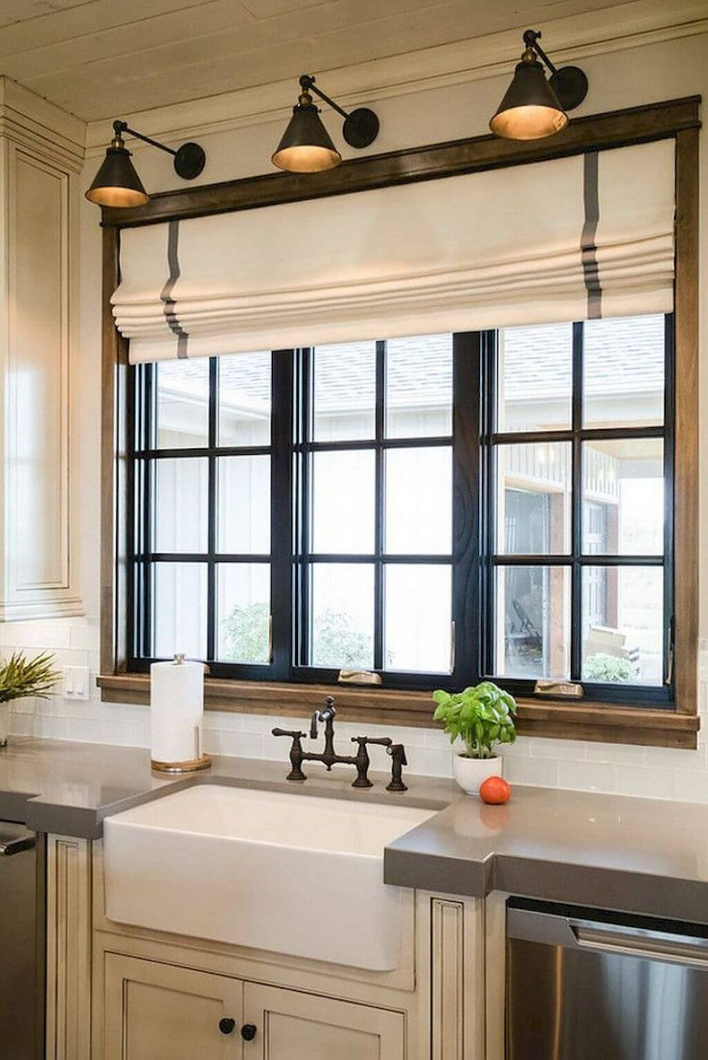 12 Best Farmhouse Window Treatment Ideas and Designs for 12 - window dressing ideas kitchen