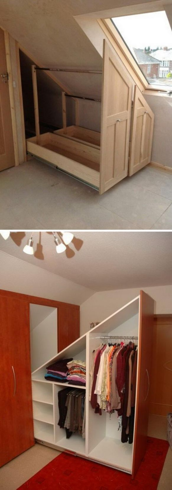 12+ Clever Storage Ideas For Your Attic - Hative - closet ideas attic