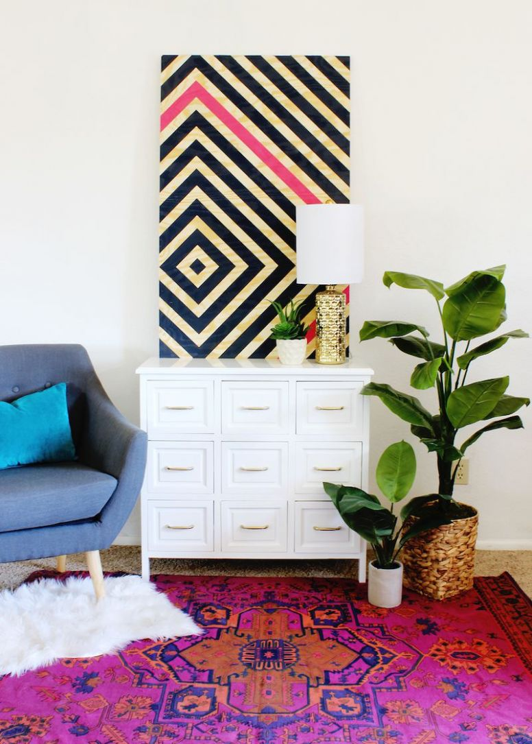 12 DIY Wall Art Projects to Spruce Up Your Space - diy home decor paintings