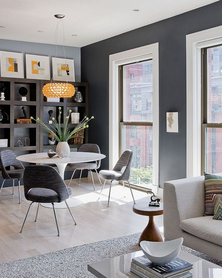 12 Elegant and Exquisite Gray Dining Room Ideas | Living room grey ...