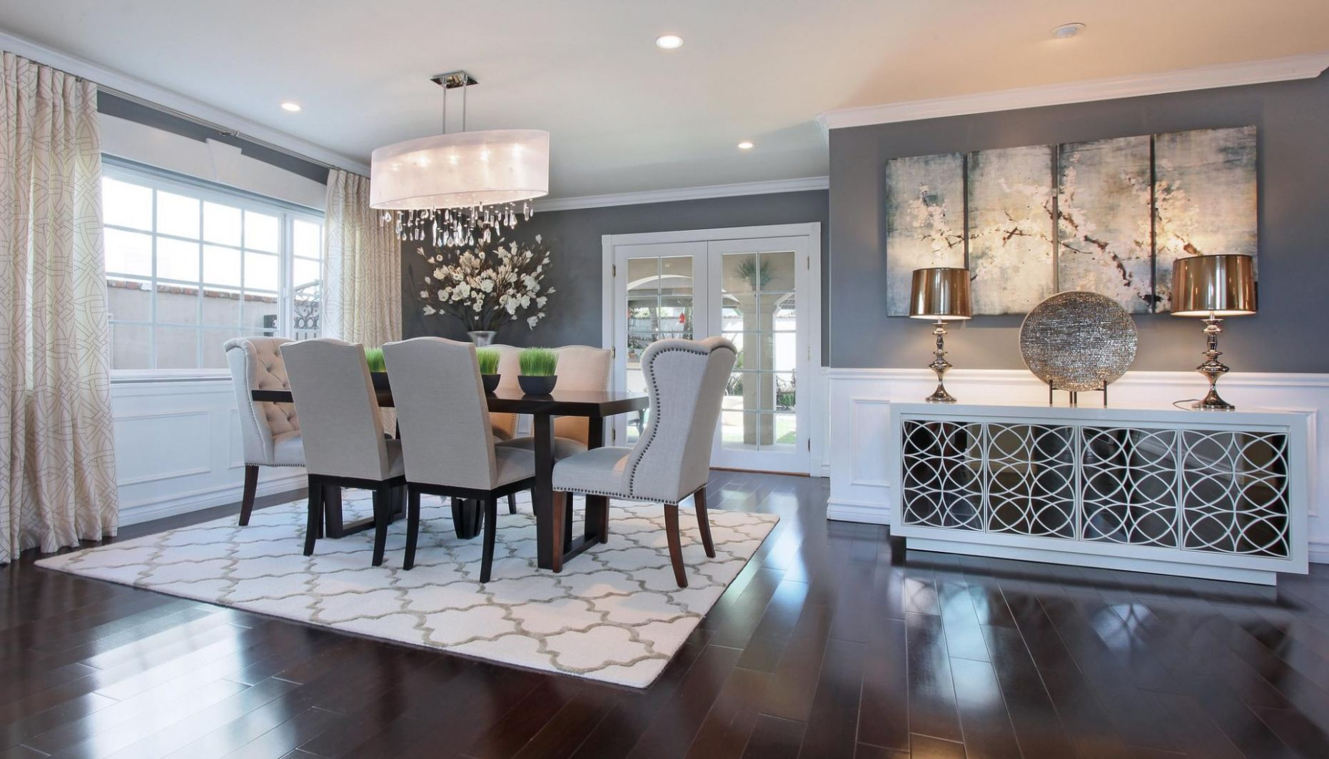 12 Marvelous Gray Dining Room Ideas - Rhythm of the Home - dining room ideas with grey walls