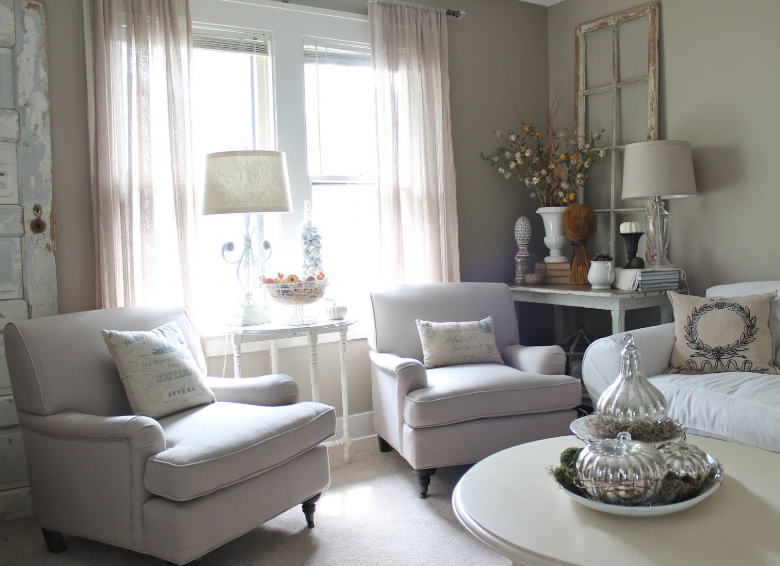 12th and White: New Chairs for the Living Room - living room ideas with just chairs