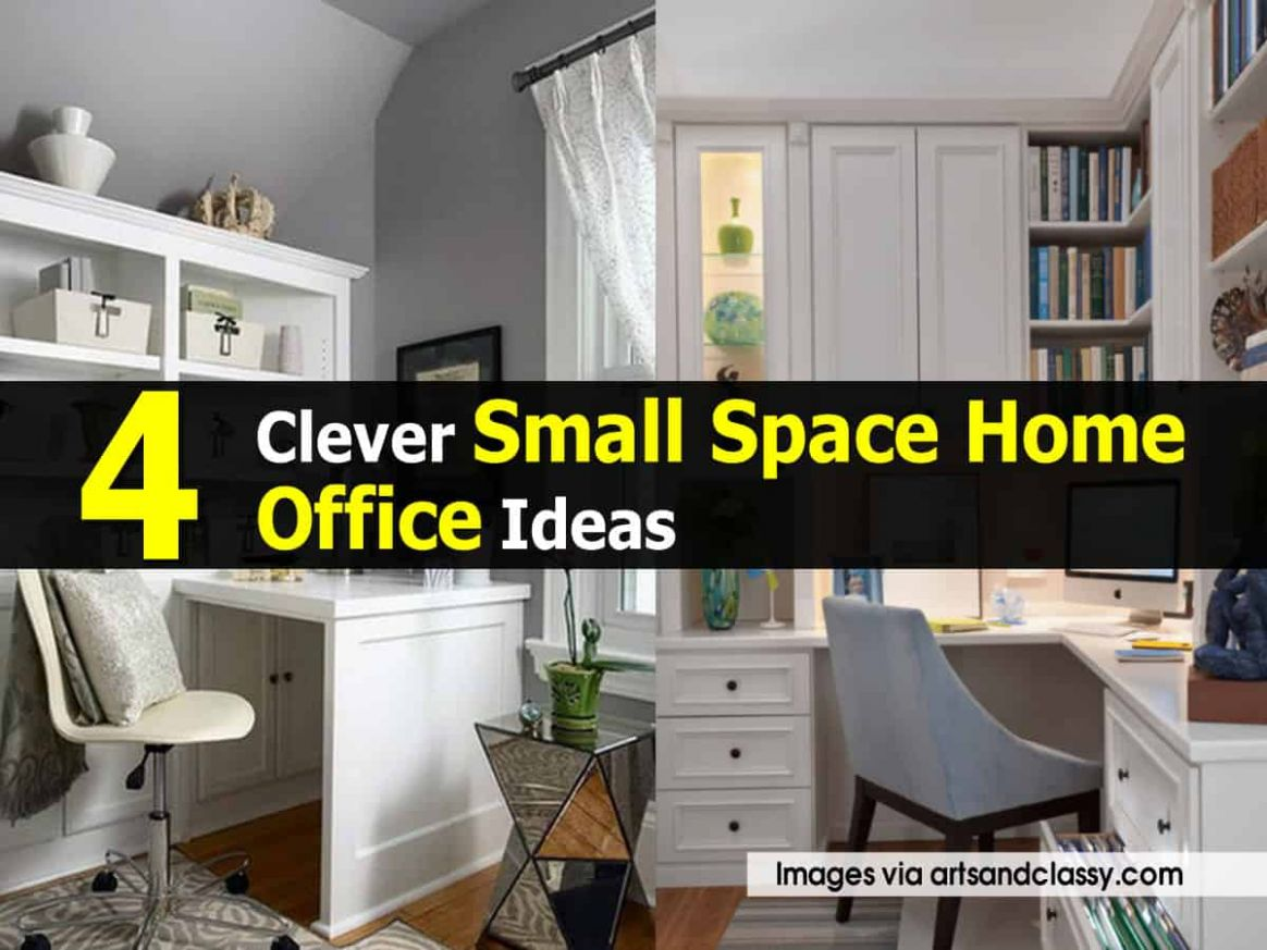 8 Clever Small Space Home Office Ideas - home office ideas in small spaces