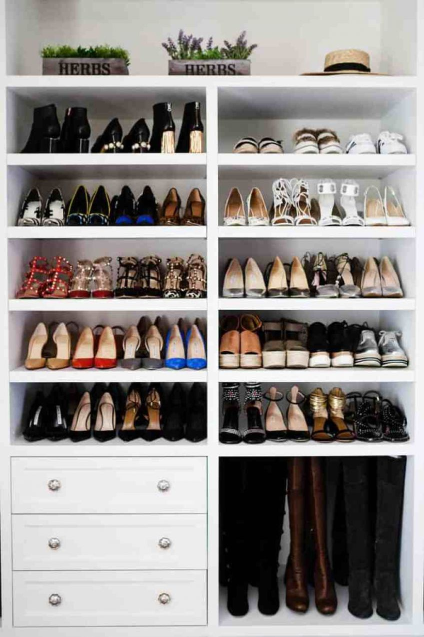8+ Creative Ways to Organize your Shoes - closet ideas shoes