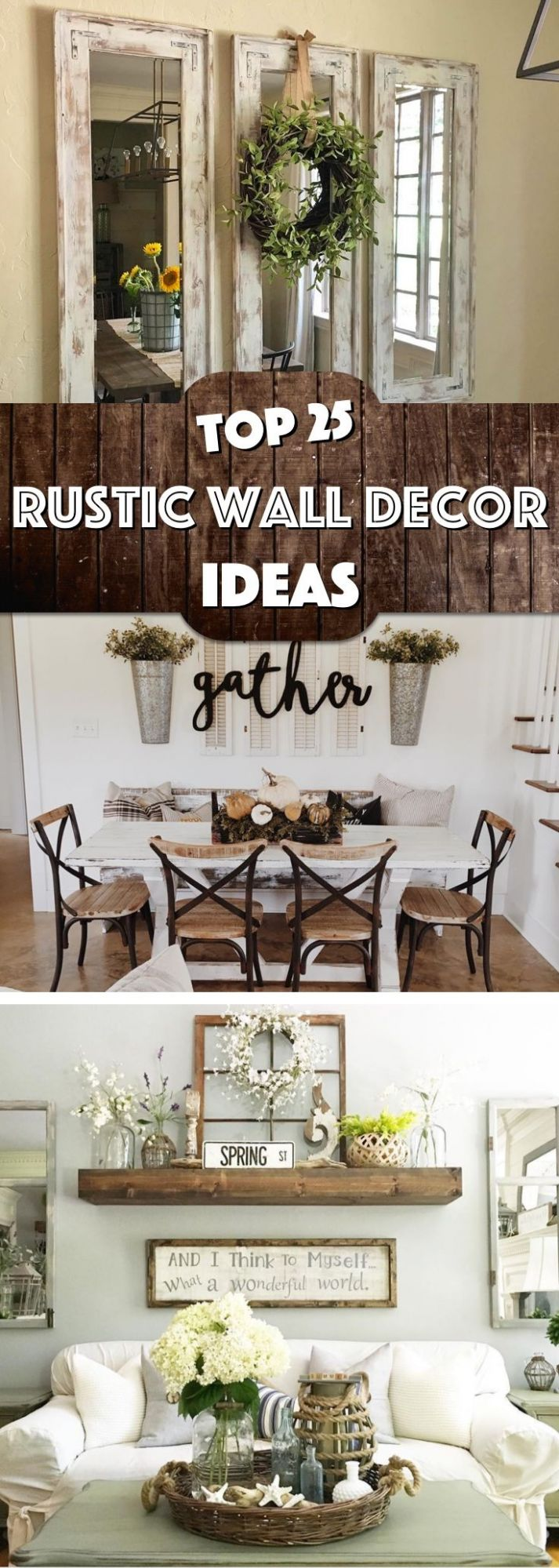 8 Must-Try Rustic Wall Decor Ideas Featuring The Most Amazing ...
