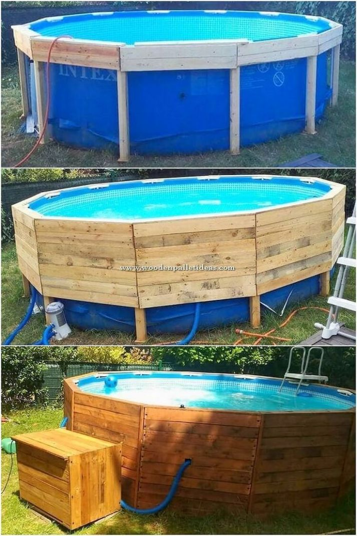 8+ Projects to Make Out of Wooden Pallets | Diy swimming pool ..