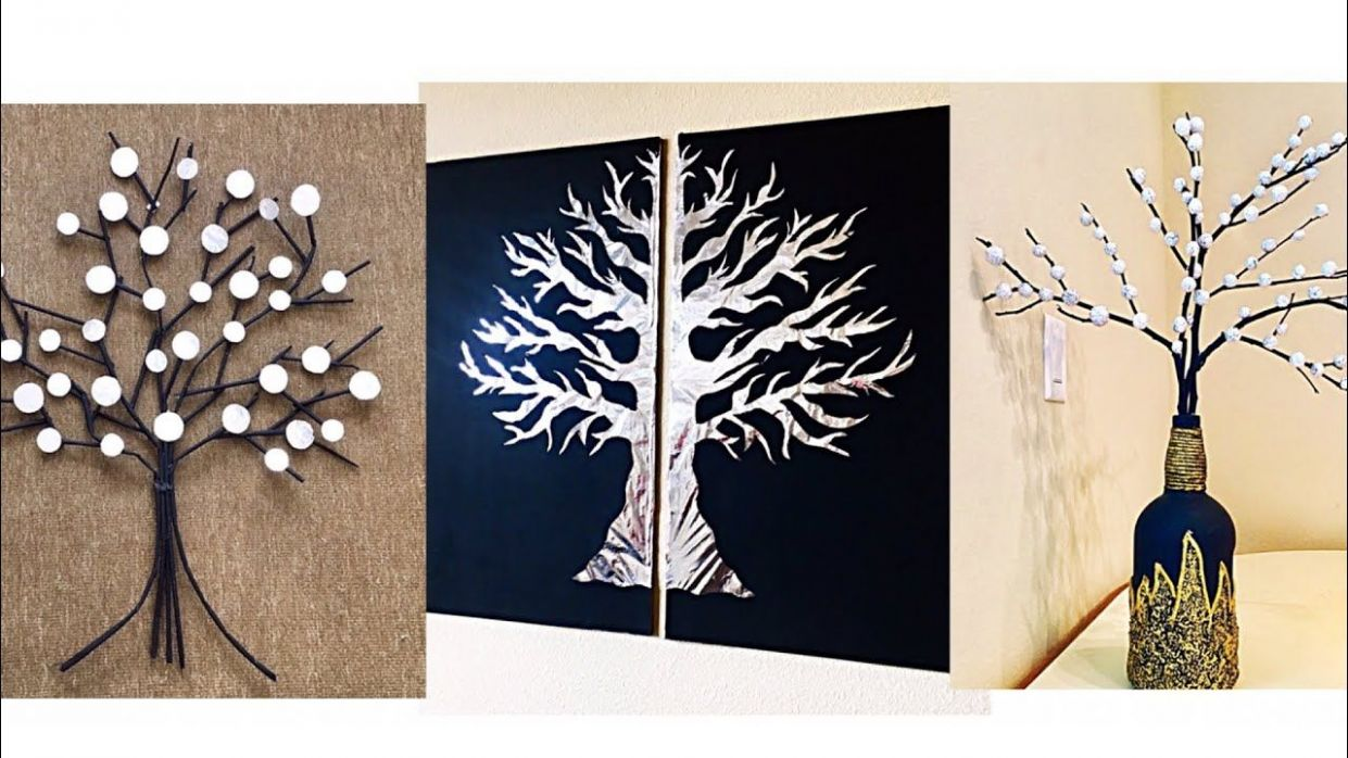 8 unique wall hanging craft Ideas//Aluminum foil wall decor ideas ...