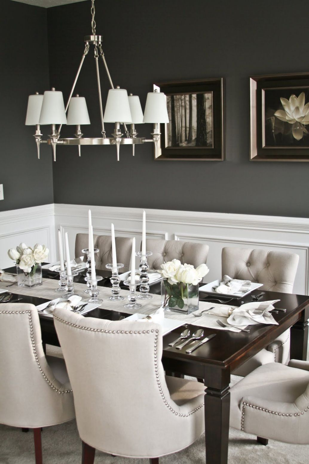8 Wainscoting Ideas With Pros And Cons | Elegant dining room ..