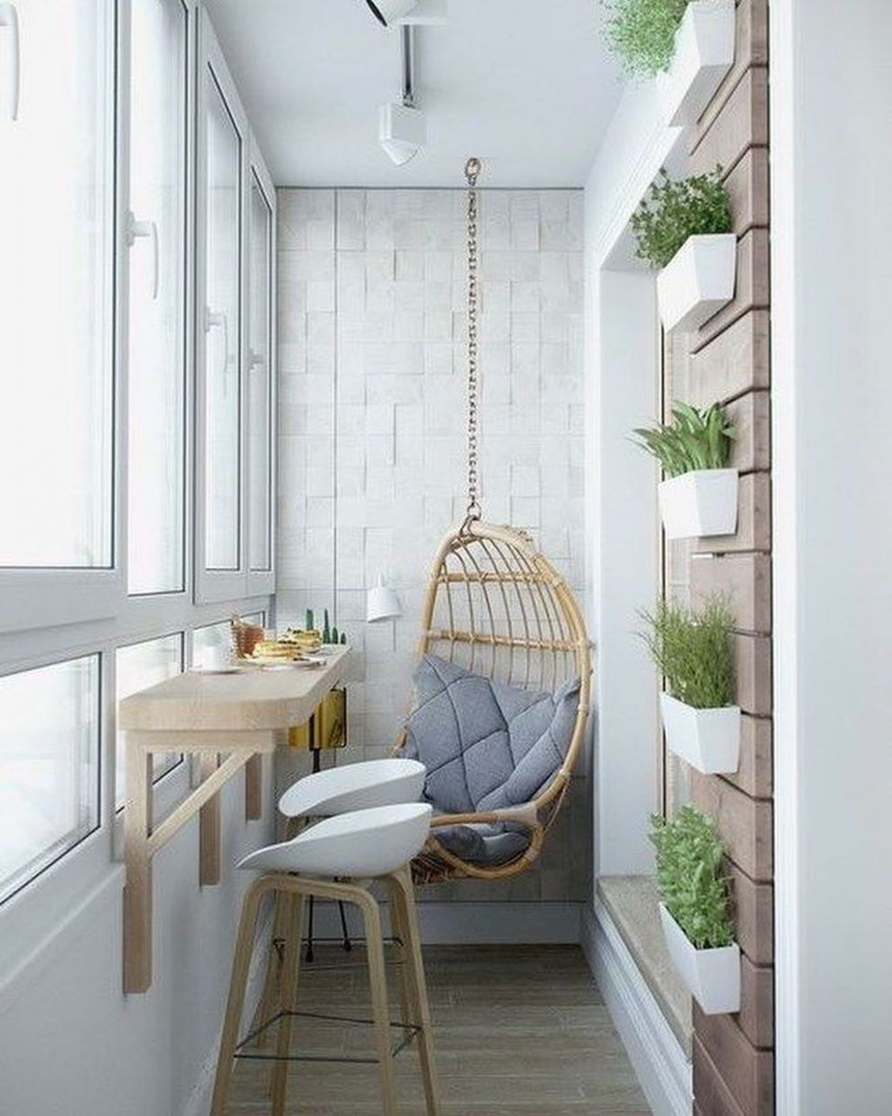 9+ Brilliant Closed Balcony Design Ideas To Enjoy In All Weather ...