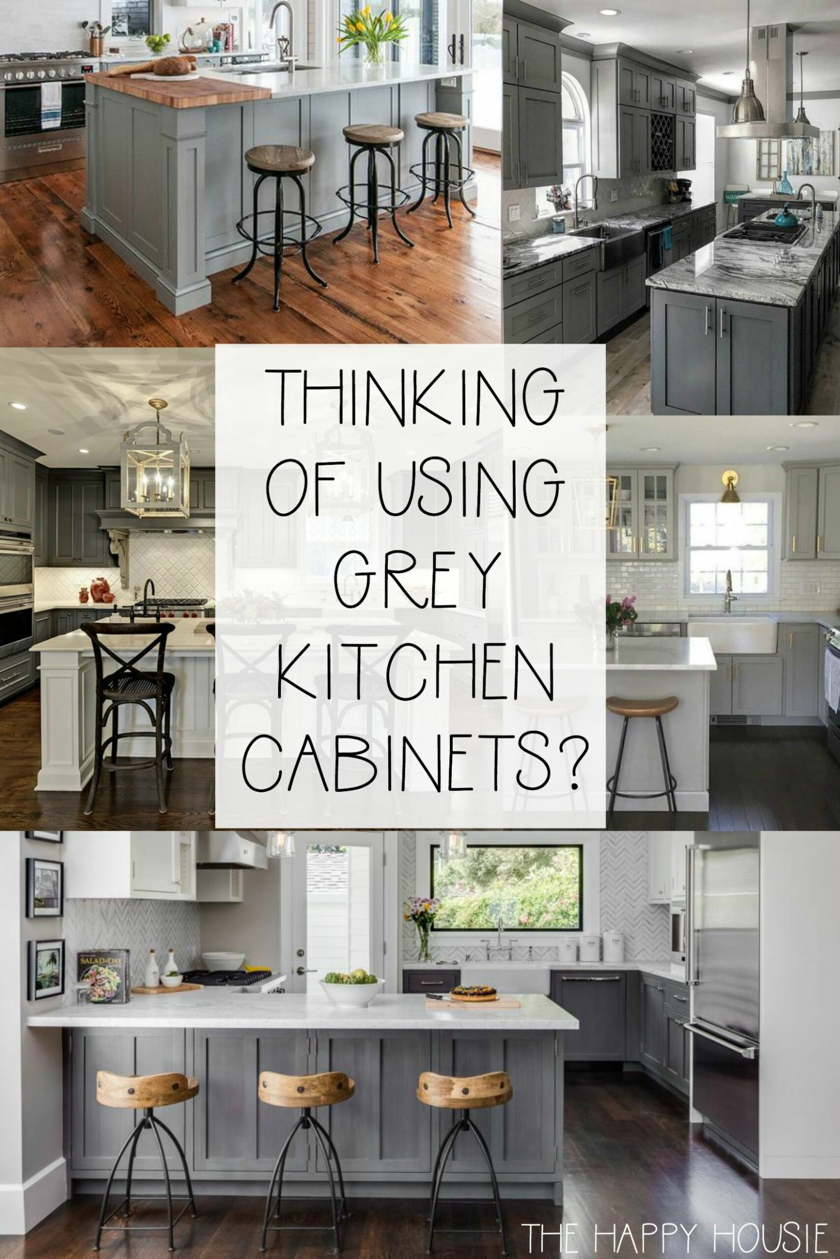 9 Fabulous Kitchens Featuring Grey Kitchen Cabinets | The Happy ...