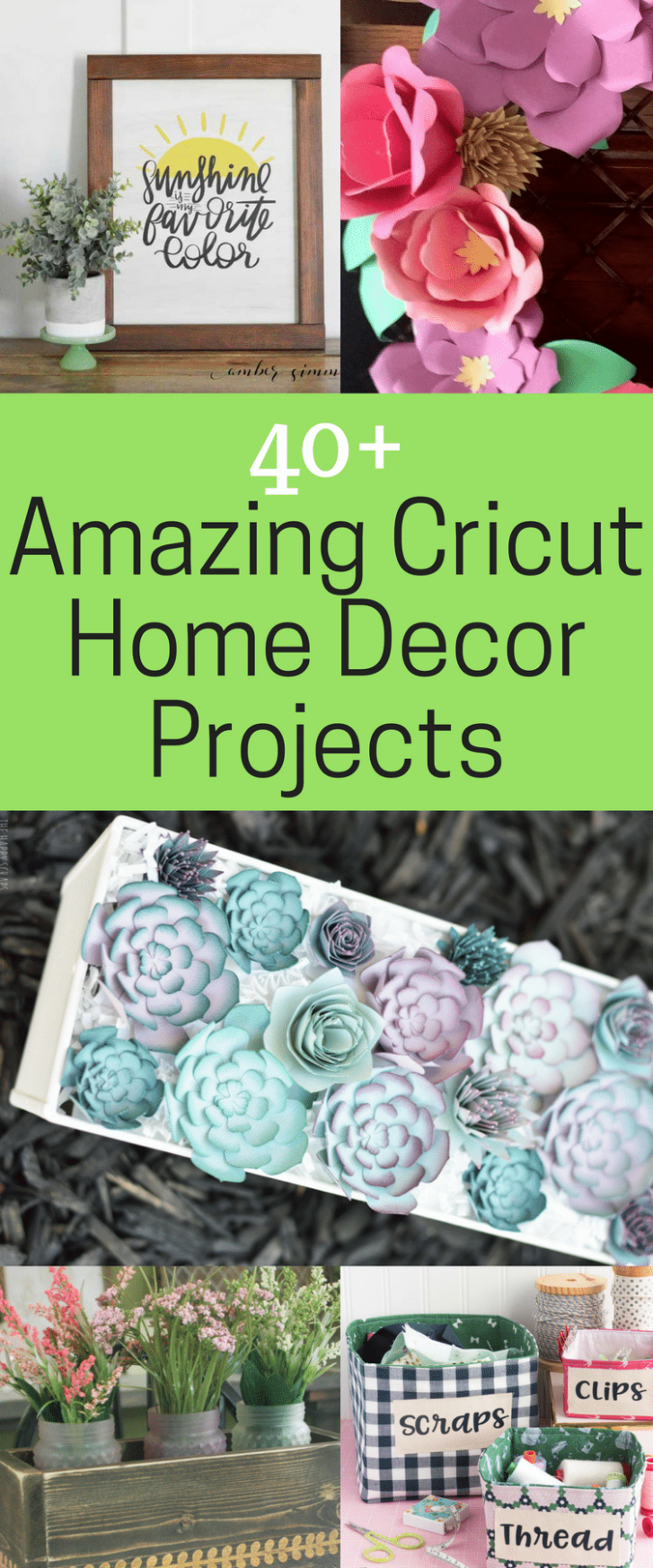 9+ of the BEST Cricut Home Décor Projects - Clarks Condensed - diy home decor with cricut
