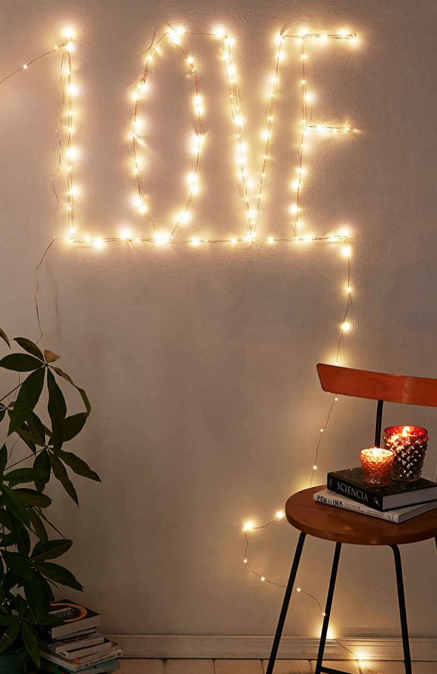 9 Ways to Create a Romantic Ambiance with String Lights - wall decor ideas with lights