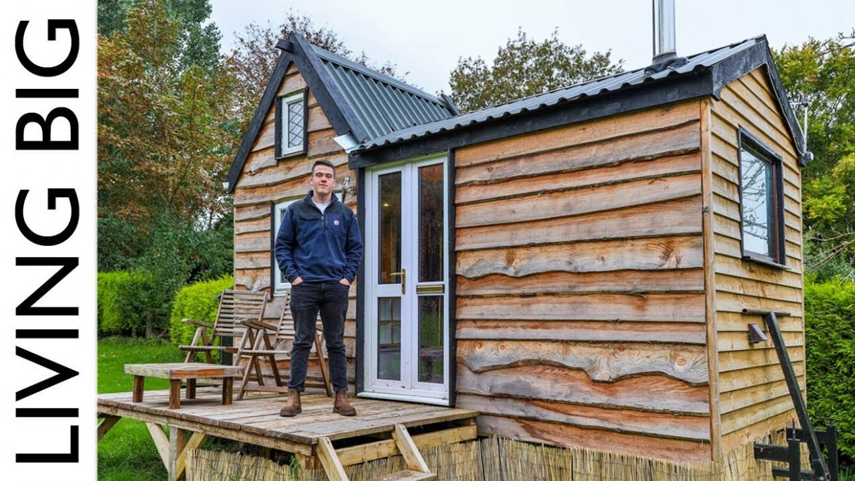 9 Year Old Builds Tiny House For Only £9,9! - tiny house videos