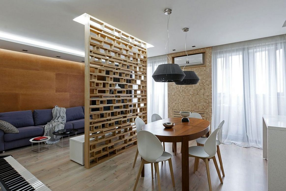 A Lesson in Delineating Space Without Walls: Modern Apartment in ...
