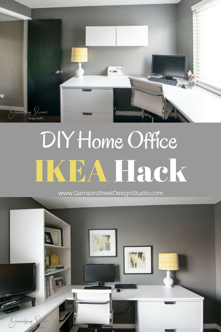 A Real Home Office | Home office layouts, Ikea home office, Home ..