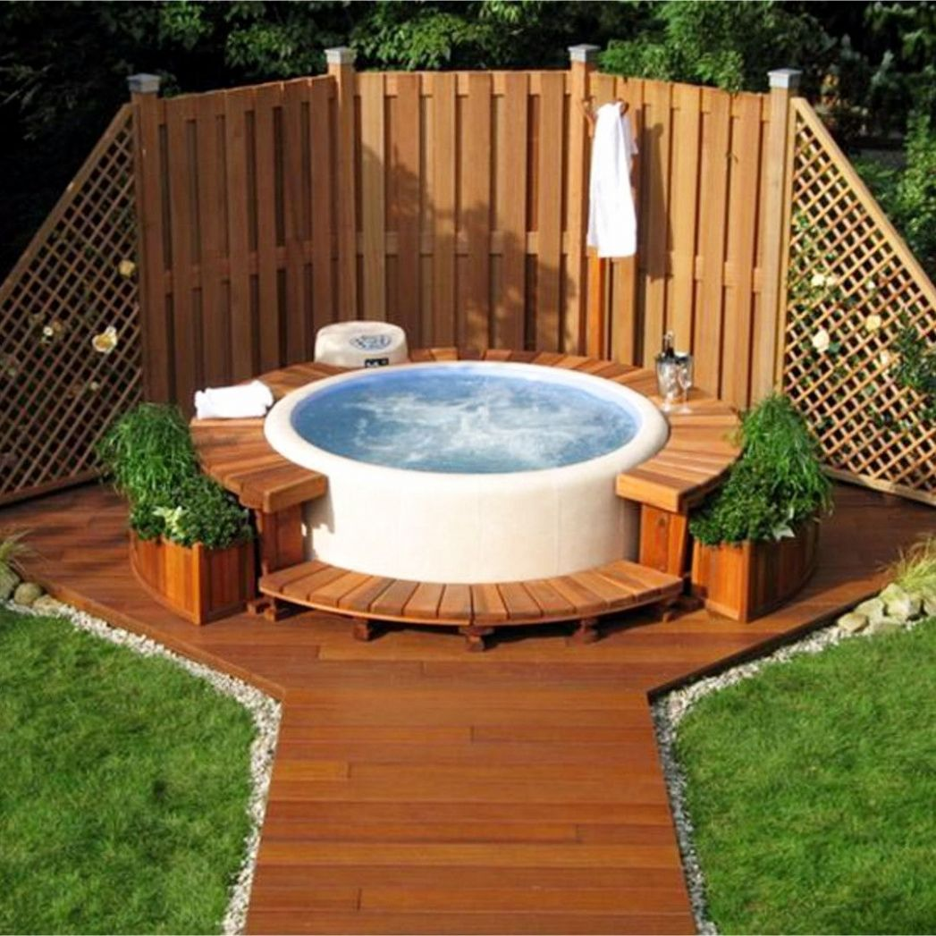 above ground hot tub ideas for your backyard this design idea ...
