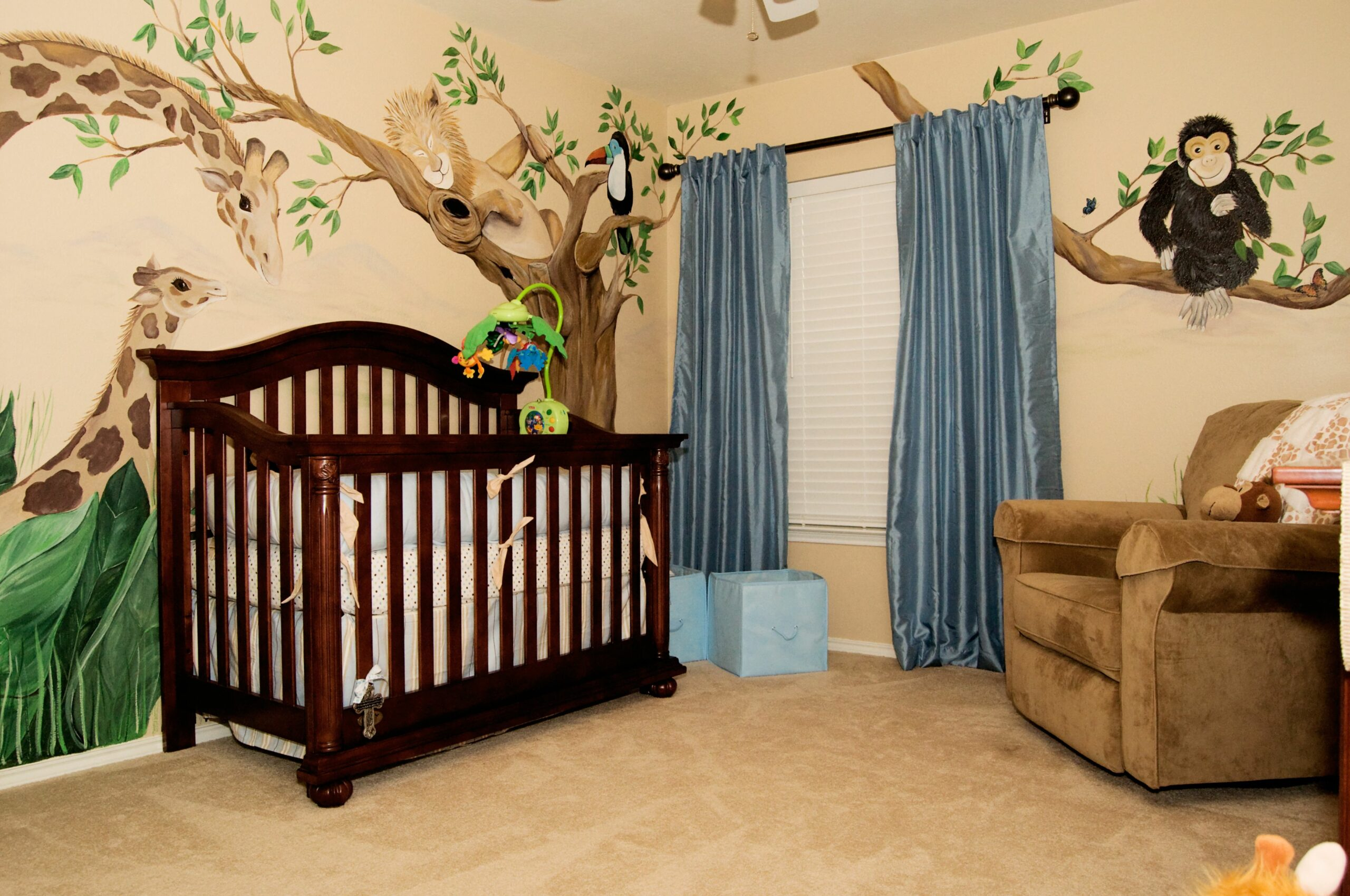 Adorable Baby Room Dcor Ideas Jungle Themed Bedroom Atmosphere ...