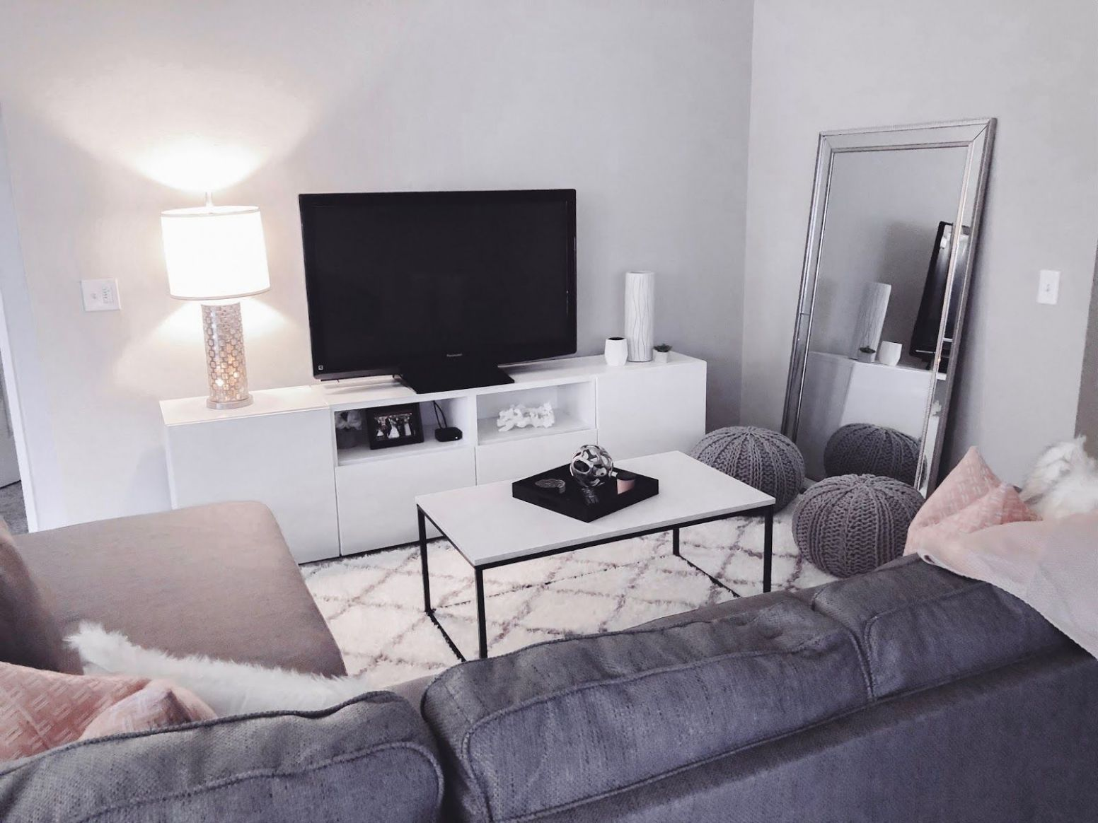 Affordable Apartment Decor in 8 | Living room grey, Affordable ..