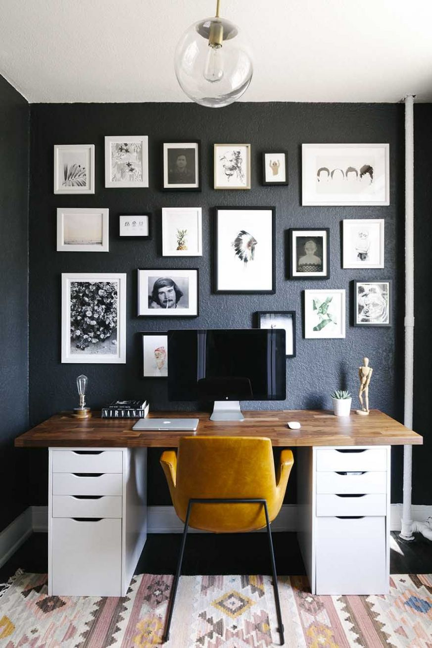 Amy's 8 Square Feet Of Eclectic And Modern Charm | Home office ...