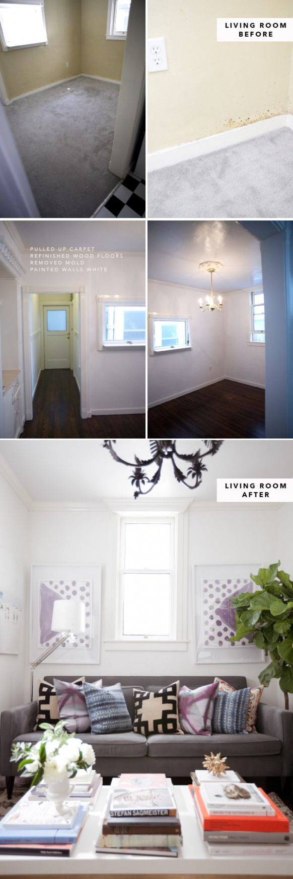 Apartment Pictures: Before and After!