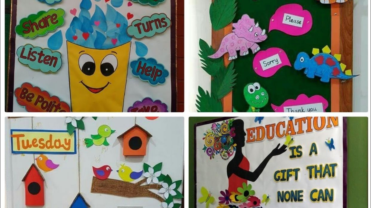 Art And Craft Ideas For School Wall Decoration - All About Craft - wall decoration ideas school
